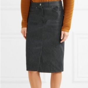 MaxMara Denim High Waist Jean Midi Skirt Pencil